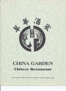 China Garden Eat-In Menu